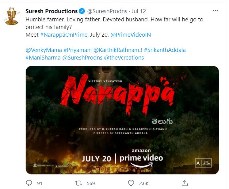 Narappa release date